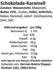 Zutaten-Schokolade-Karamell